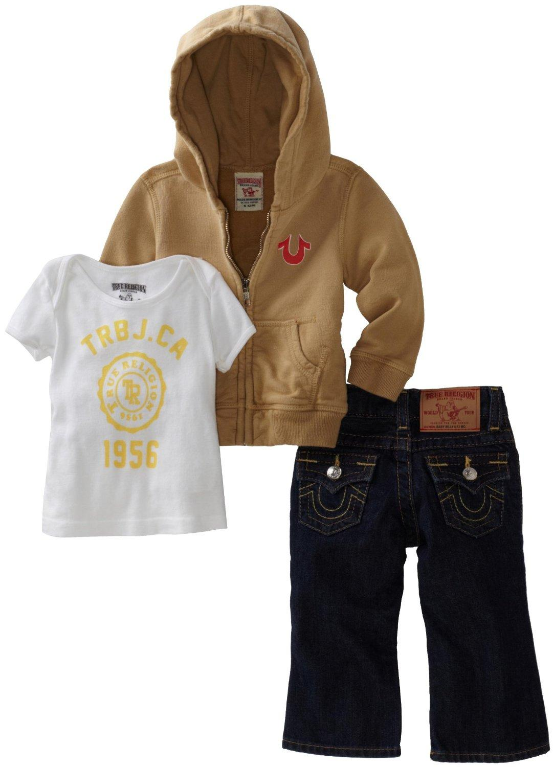 f1f42ba2a Discounted) True Religion Unisex Baby Infant Baby 3 Piece Gift Box Set