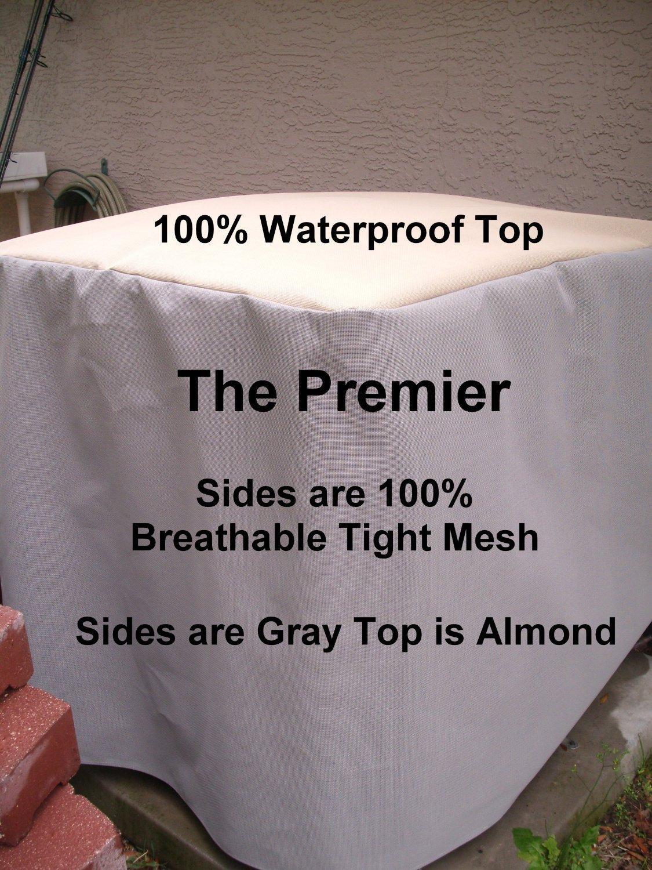 Air Conditioner Cover Winter Premier ALMOND TOP GRAY SIDES 24x2 #495E24