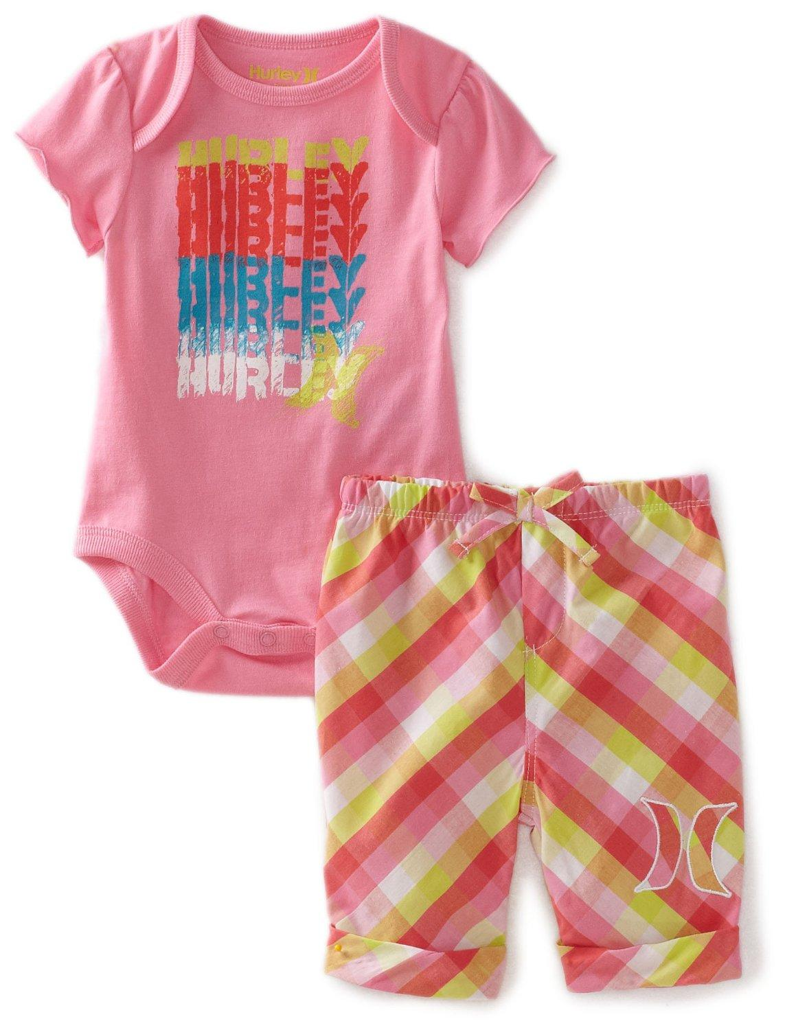 Discounted Hurley Baby Girls Infant Creeper Bermuda Set