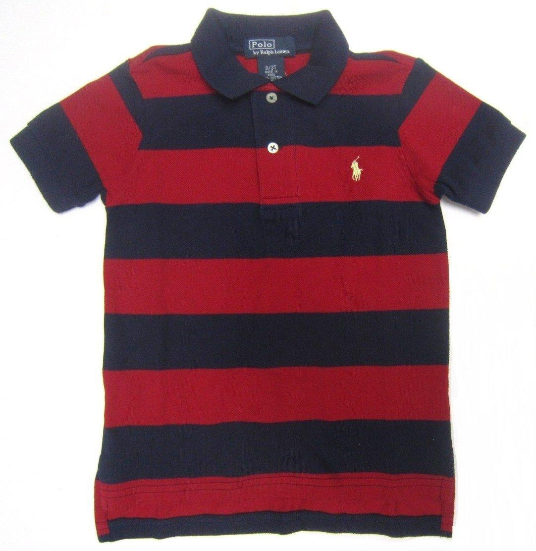 Discounted polo ralph lauren toddler striped polo shirt for Red blue striped shirt