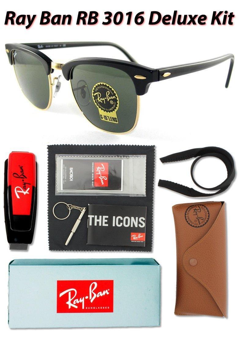 ray ban rb3016 clubmaster sunglasses mock tortoise arista frame ...