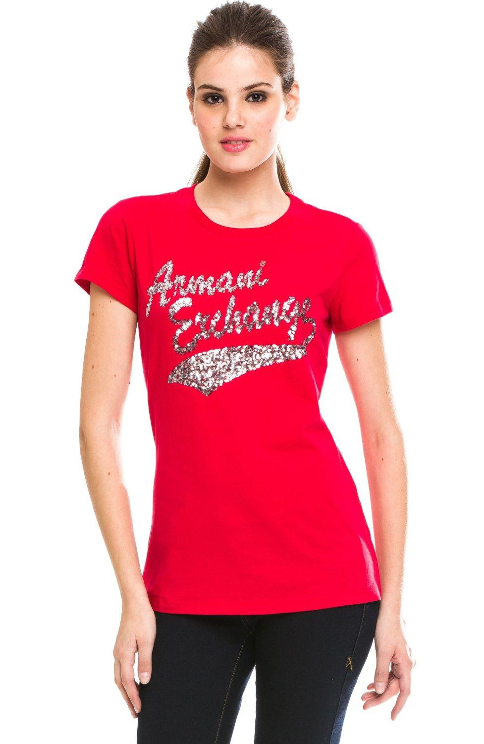 Discounted armani exchange stacked script t shirt for Armani exchange t shirts wholesale