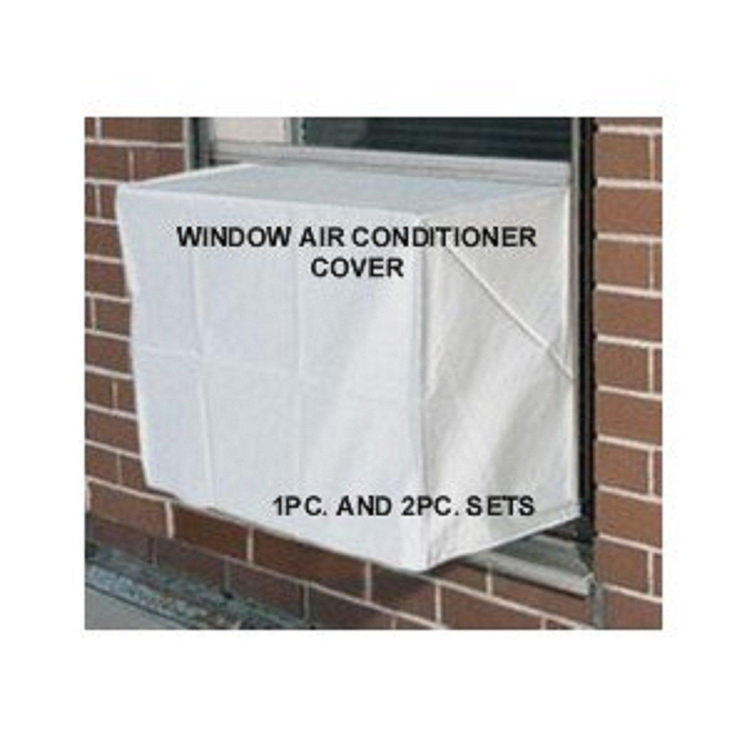 Window Air Conditioner Cover 2PC SET Outdoor Indoor 19W x 14H #7C5F4F