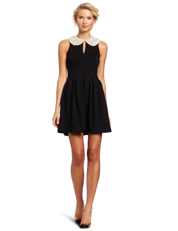 Как надеть черное платье на новый год