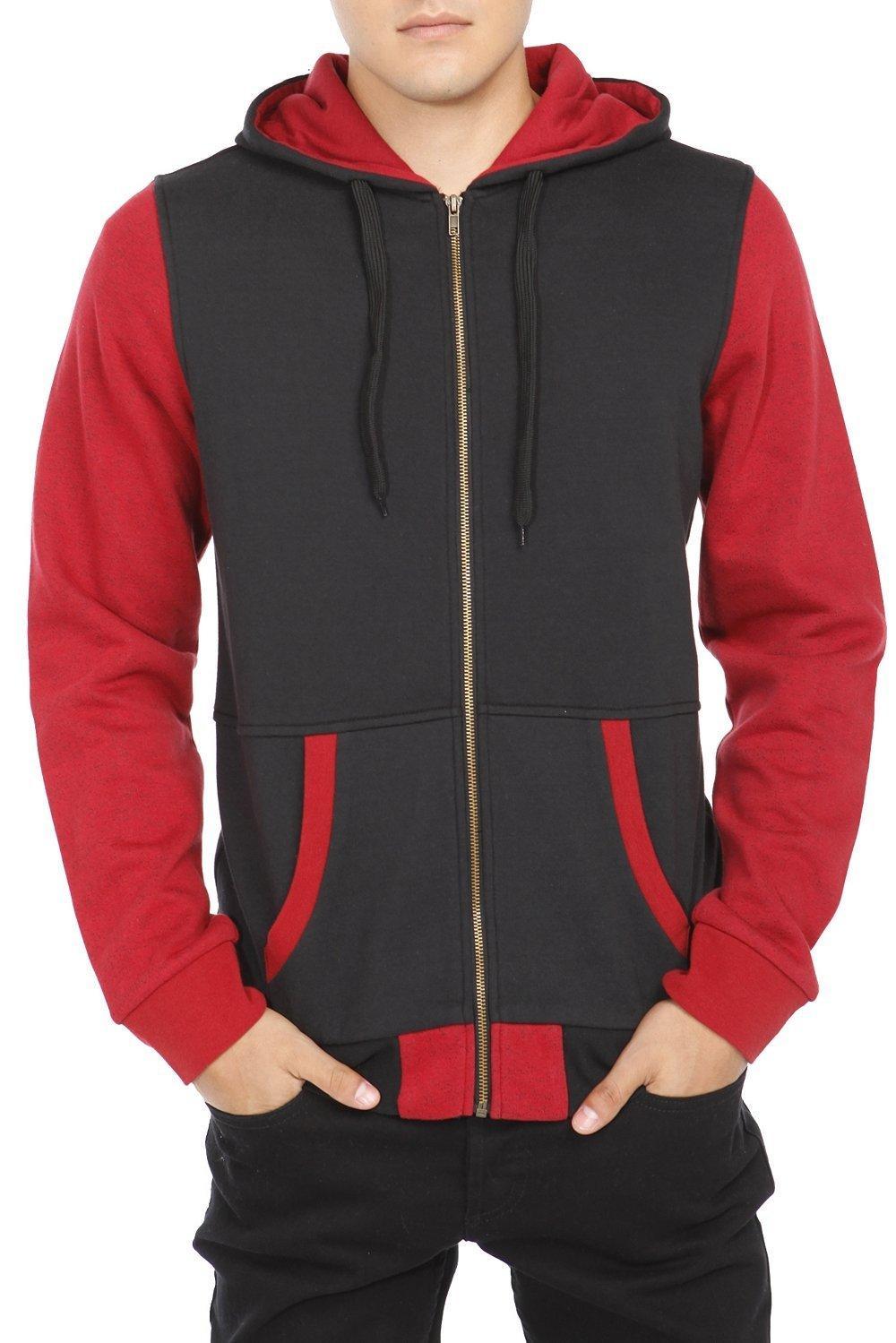 Discounted) Rude Black Red Speckle Zip Hoodie