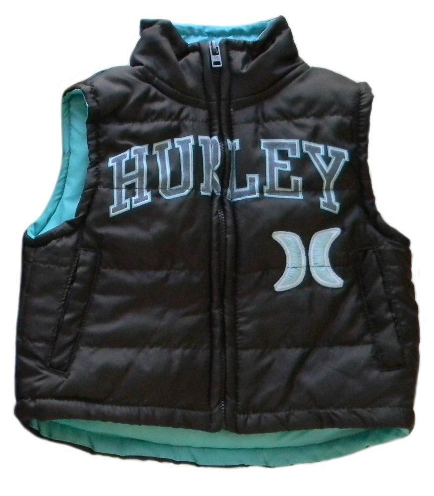 Discounted Hurley Baby Boys Puffy Vest Plaid Flannel Top