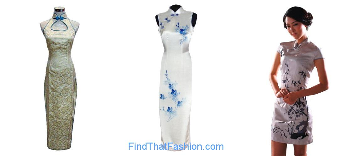 Auspicious dragons and clouds chinese dress