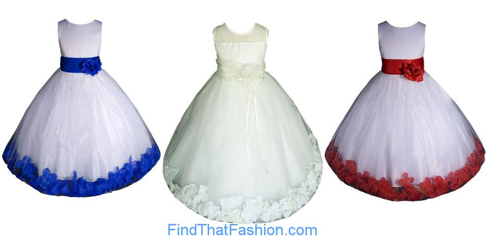 AMJ Dresses Girls Wedding Fashion