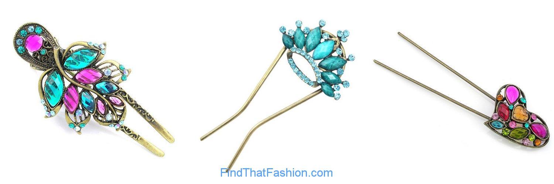 Crystal Mood Hair Pins
