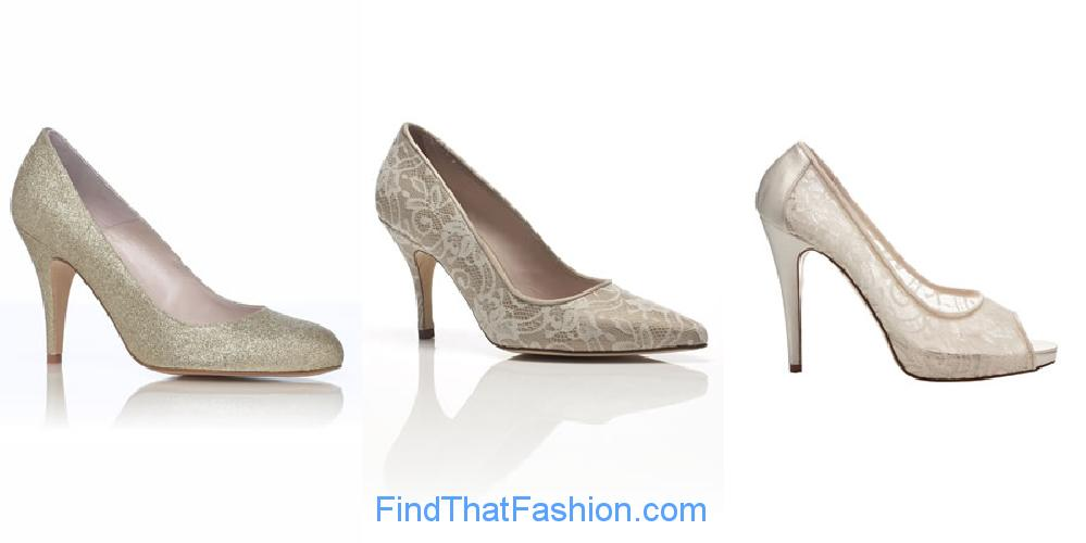 Beige Vintage Wedding Shoes by Harriet Wilde
